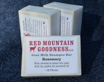 Rosemary goat milk shampoo bar