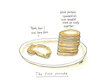 The first pancake, giclee print