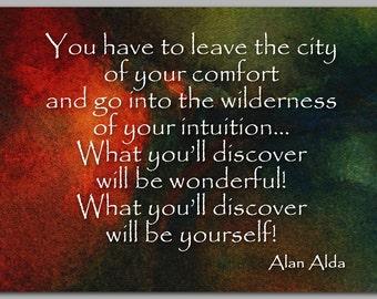 "Graduation 2014 - New Beginnings - Quote by Alan Alda - 5""x7"" Card ..."