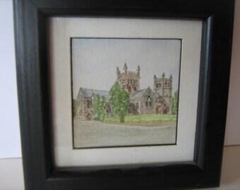Small Original Watercolour By W. Brookes.