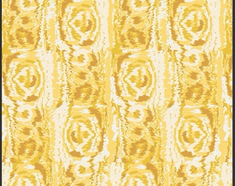 1 Yard LILLY BELLE  Moire Buttercup Fabric by BARI J. For Art Gallery