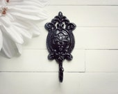 Fixture / Wall Hook / Shabby Chic /  Metal Hook / French Country Decor / Ornate / Cottage Chic