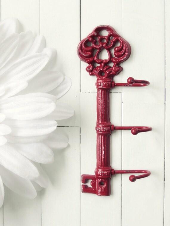 Wall Decor With Key Hooks : Items similar to wall decor cast iron key hook