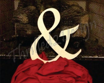 24 inch Wooden Ampersand Sign - Unpainted