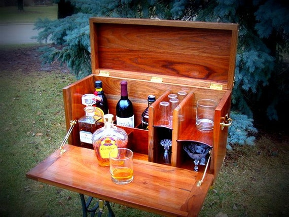 Items similar to portable bar perfect for camping - Mobile bar vintage ...