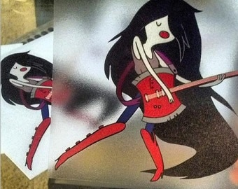 Adventure Time Marceline Vampire Queen Decal for Cars or Laptops