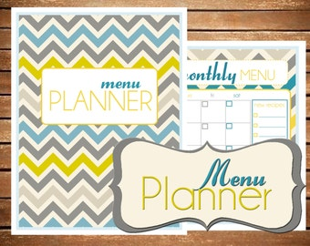 Menu Planner, Meal Planner, Menu Printable, Weekly Meal Plan, Meal Plan, Menu Planner, PDF Prtinable, Grocery List, Shopping List, Menu PDF