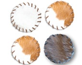 Cowhide Coasters (set of 4) Free Shipping