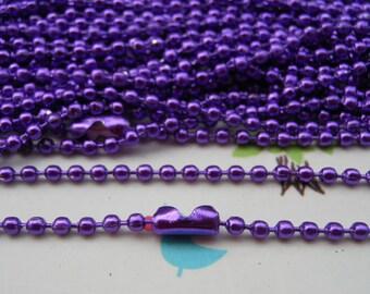 SALE--10 pcs 27inch, 2.0 mm Purple Ball Chain Necklaces