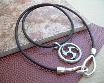Leather Necklace, Celtic Pendant , Mens Necklace, Mens Jewelry, Mens Gift, Pendant, Celtic
