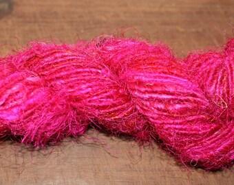 Sari Silk Yarn, Pink