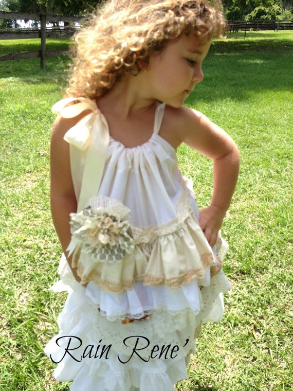 Items similar to BOHO// Flower Girl Dress// Little Girl ...