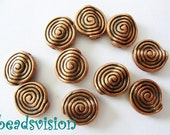 10/40 Spacer Metal beads snail Color copper 11 x 10 mm Metal #S267