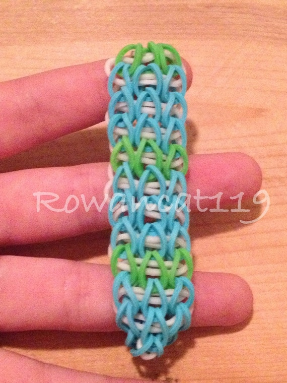 this is a triple single rainbow loom rubber band by