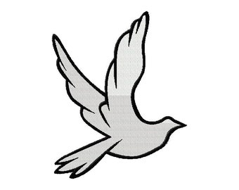 INSTANT DOWNLOAD White Dove Machine Embroidery Design