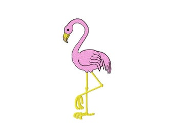 INSTANT DOWNLOAD Pink Flamingo Machine Embroidery Design