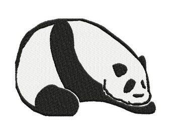 INSTANT DOWNLOAD Sleepy Panda Machine Embroidery Design