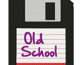 INSTANT DOWNLOAD Old School Floppy Disk Geek Style Machine Embroidery Design