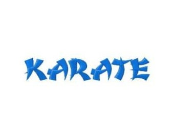 INSTANT DOWNLOAD Karate Ninja Machine Embroidery Font Set Includes 3 Sizes