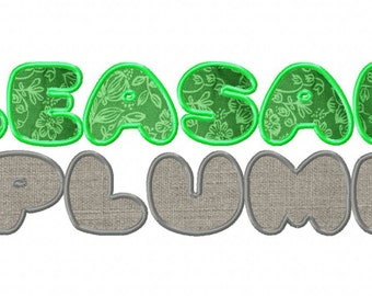 INSTANT DOWNLOAD Pleasantly Plump Font Machine Applique Embroidery Font Set Includes 3 Sizes
