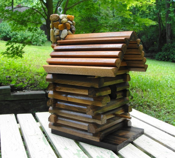 rustic log cabin birdhouses - photo #13
