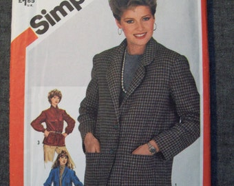 Misses jacket pattern, size 14. Simplicity 5664. Uncut and factory folded.
