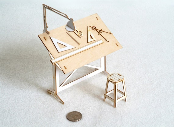 Miniature Drafting Table Model Kit  - Architectural Model