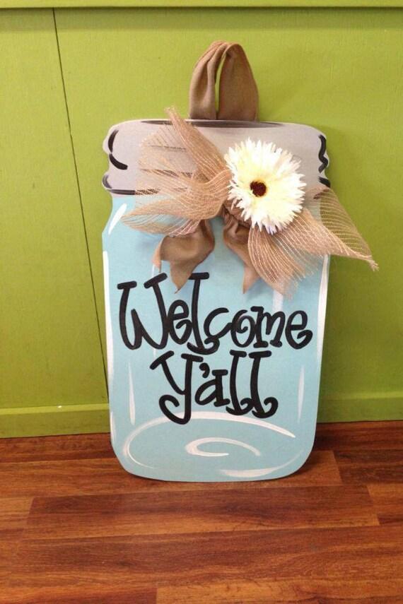 Mason Jar Front Door Hanger