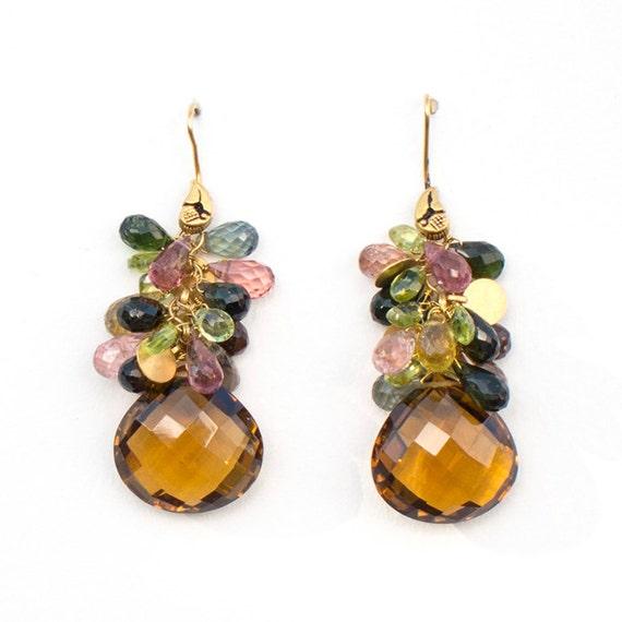 Cascade Earrings, 17 x 48 mm