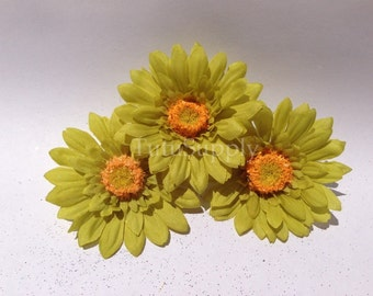 Green Daisy Flower, green flower, small green flower, flower for headband, infant headband, baby headband, girls headband