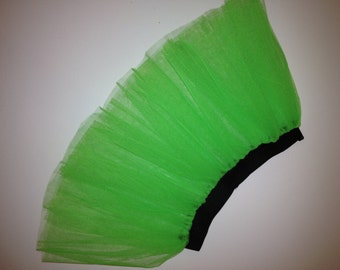 Green Neon UV NEON Tutu Skirt For Dance Party Ruffled Tulle Skirt adult Costume Glow in Dark