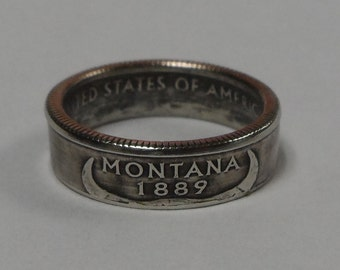MONTANA    us quarter  coin ring size  or pendant