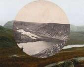 Photomontage, a series of 5 postcards with photographs of Lapland