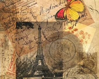 Paris Collage Sheet   No. FR-19981