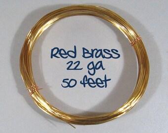 22ga 50ft DS Red Brass Wire