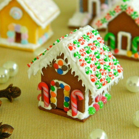 Miniature Gingerbread House By LillipuceBoutique On Etsy