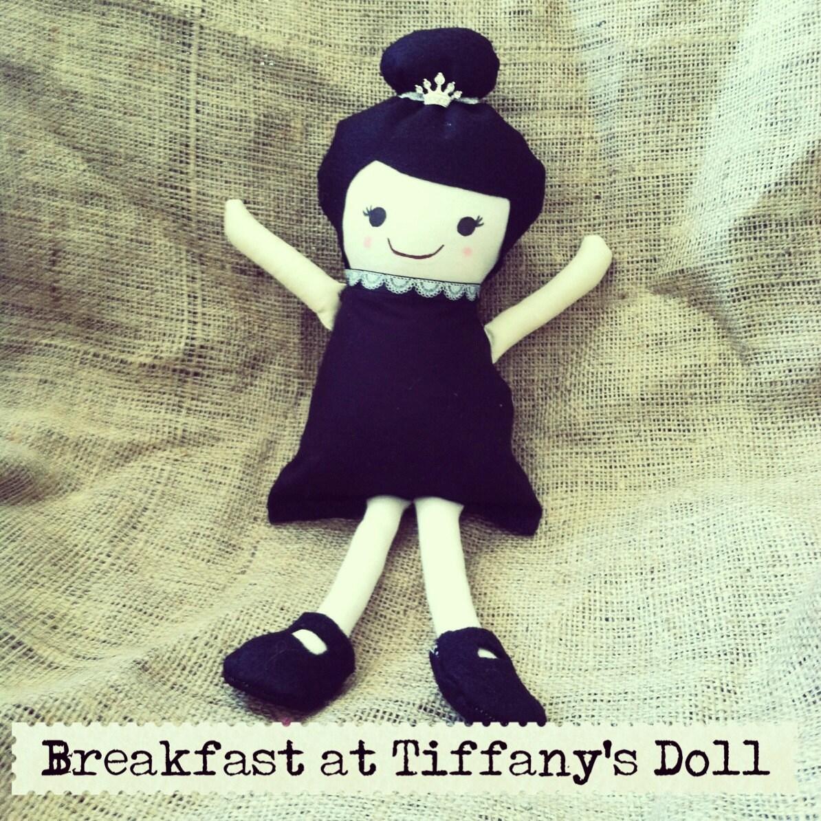 Audrey Hepburn Breakfast at Tiffanys Inspired Cloth Doll