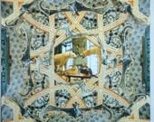 Original Textile wall Art 1.2 m sq Taxidermy -Bears and Bats
