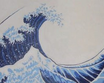 Japanese wave painting