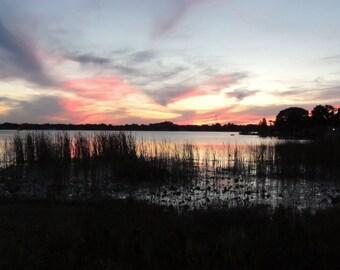 Sunset on a Lake (Landscape 3)