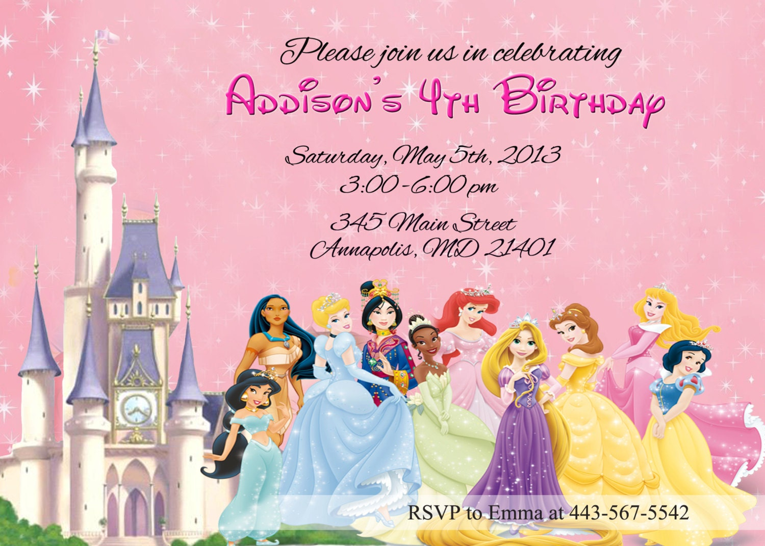 Princess Invitation Disney