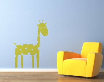 Giraffe Decal Sticker by Vinyl Wall Art, size SMALL
