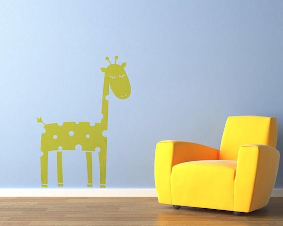 Giraffe Decal Sticker by Vinyl Wall Art, size SMALL