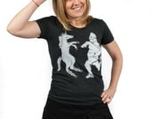 unicorn shirt, yeti tshirt, unicorn and yeti, women's tshirt, funny tshirt, unicorn dancing, yeti shirt, graphic t, weird tshirt