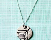 piano gifts - PIANO NECKLACE music jewelry music necklace silver piano necklace