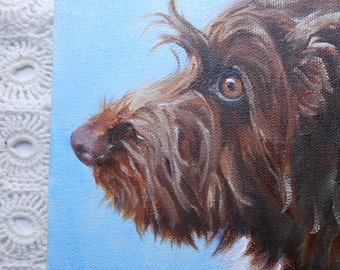 Custom Pet Portrait, Dog Painting, Pet Painting, Custom Dog Portrait, Hand Painted, From Photograph by Artist Robin Zebley
