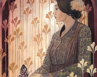 Madame Butterfly - Art Nouveau Goddess 8x10 Print