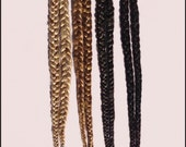 Pair of Single Long Hair Braids on Hair Picks- CUSTOM MADE