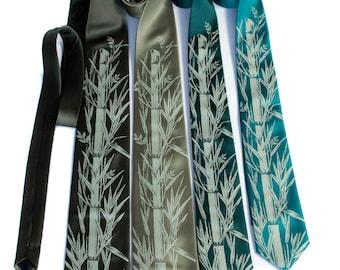 4 Groom & Groomsmen Wedding Ties. Men's neckties, matching silkscreen design. Vegan safe microfiber ties - wedding group discount.