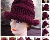 Crochet Pattern, Womens Crochet Hat Pattern, Crochet Wide Brim Hat Women, VIRGINIA